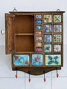 Ethnic Home Decor, Indian Home Decor, Funky Furniture, Painted Furniture, Deco Boheme, Boho Room, Tea Box, Wood Drawers, Diy Arts And Crafts