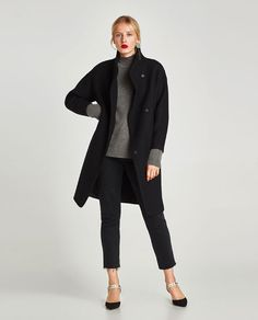 ZARA - WOMAN - LONG COAT WITH WRAPAROUND COLLAR £95.99