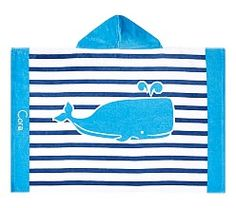 Hooded beach towels amp beach towels for toddlers pottery barn kids