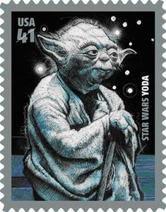 First the R2-D2 mailbox and now a Yoda stamp
