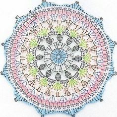 Naissance Mandala ~ Pattern Here is the pattern for the Naissance Mandala. Although a long post, I hope the photos included help support the pattern. For a concise and on the go version Motif Mandala Crochet, Crochet Diagram, Crochet Stitches Patterns, Crochet Chart, Crochet Granny, Diy Crochet, Knitting Patterns, Crochet Flowers, Crochet Doilies