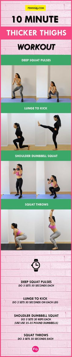 10 Min Thicker Thighs Workout | Posted By: CustomWeightLossProgram.com