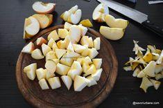 Prăjitură fără coacere cu mere, biscuiți și budincă de vanilie | Savori Urbane I Foods, Cantaloupe, Bakery, Deserts, Cheese, Fine Dining, Recipes, Postres, Dessert