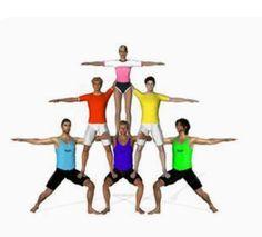 Partner Yoga, Acrobatic Gymnastics, Gymnastics Leotards, Beach Yoga, Cool Yoga Poses, Sports Day, Yoga For Kids, Sports Activities, Foto Pose