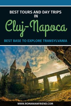 Check out locally recommended tours & suggestions for day trips, what to see & where to go out in Cluj-Napoca! Europe Travel Guide, Europe Destinations, Travel Tours, Travel Guides, Transylvania Romania, Visit Romania, Romania Travel, Tour Around The World, Future Travel