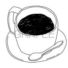 ブラックコーヒーのイラスト_サムネイル