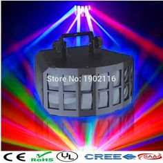 106.00$  Watch here - http://ali2lf.worldwells.pw/go.php?t=32719800103 - DMX512 High Powerful Led Double Butterfly Mini Flash Light party light dj disco light