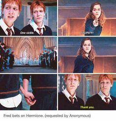 Again evidence for the Fred/Hermione-theory!