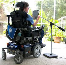 When confined to a wheelchair, the SwingHolder can significantly improve quality of life.