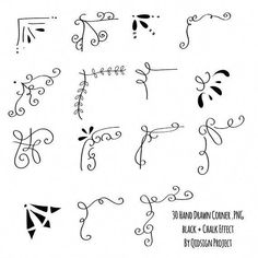 30 Hand drawn corner clipart chalk and black Scrapbook . Awesome border ideas for any bullet journal or lettering layout! 30 disegnati a mano angolo clipart gesso e nero Scrapbook Spurious Scrapbooking Layouts For Girls Creating A Family Recipe Scrapbook Album Journal, Scrapbook Journal, Journal Art, Journal Prompts, Art Journals, Ideas Scrapbook, Couple Scrapbook, Scrapbook Letters, Scrapbook Images