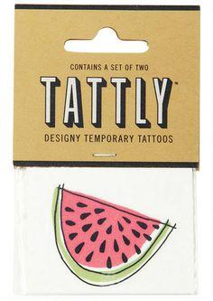 Juicy Watermelon Tattoo - New Arrivals - dELiA*s