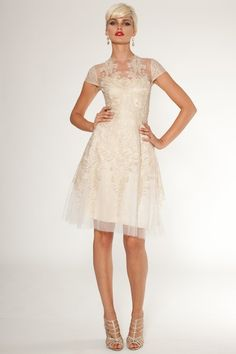 Teri Jon by Rickie Freeman - love this for a rehearsal dinner or a guest dress - even bridesmaid