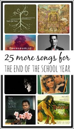 25 More End of the Year Slideshow Songs - Fun-A-Day! - not for preschool of course!