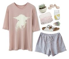 """""""Untitled #854"""" by mywayoflife ❤ liked on Polyvore featuring Birkenstock, Chicwish, Clu, Sur La Table, Sou Brette and slumberparty"""