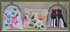 bolsas em tecido pintadas à mão
