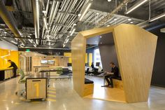 Built by Merge Architects in Cambridge, United States with date 2013. Images by John Horner Photography . This multi-use research and collaboration space was developed for students, faculty, and technical professionals in t...