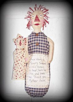 Raggedy Ann brings in the Holidays by D.J. Walk on Etsy