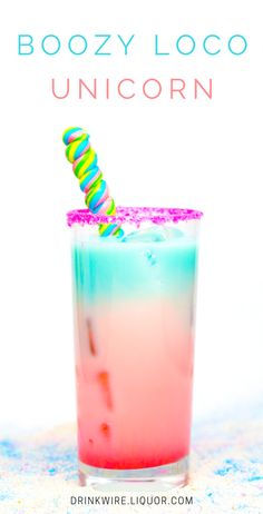 Time to put the Unicorn Frappuccino to shame! This unicorn cocktail features coconut water, Captain Morgan LocoNut, Grenadine, and Curacao. The colors from the liqueurs come together to create this beautiful masterpiece you won't be able to resist.