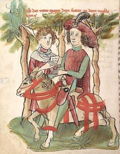 'Virginal' — Hagenau - Werkstatt Diebold Lauber, um 1444-1448 Cod. Pal. germ. 324 Folio 138v