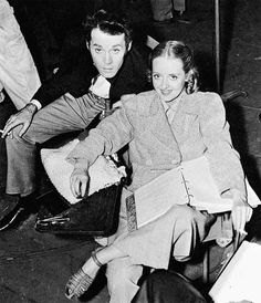 Henry Fonda and Bette Davis on the set of Jezebel. Loooove this film!