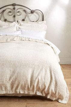 Peacock Alley Bradley Coverlet Neutral King Bedding #anthrofave