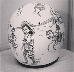 Day of the Dead design. Biltwell helmet painted by artist Rebecca Bonaci from Custom Lids. https://www.facebook.com/customlidsmalta                                                                                                                                                      More
