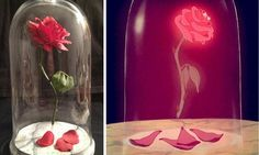 Beauty and the Beast Floating Rose | 15 DIY Teen Girl Room Ideas | Beautiful Disney Crafts For Kids, Teens and Adults : http://diyready.com/15-diy-teen-girl-room-ideas-for-disney-fans/