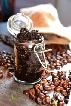 Tělový peeling z kávového lógru Doterra, Homemade, Beauty, Food, Relax, Fitness, Home Made, Essen, Meals