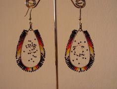 Native American beaded large teardrop by HGsbeadedgallery on Etsy, $20.00