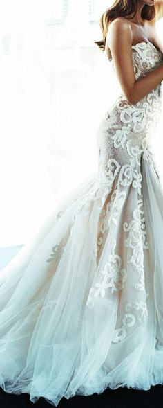 exquisit - steven khalil gown I can't decide if I want ballgown or fit and flare, but this dress...it might win