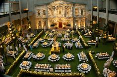 "In 2006, the gala had an English garden look that tied to the Met's ""AngloMania"" exhibit of Britain's posh and punk fashion. Event designer David Monn set up 70 tables in separate mini gardens that were hedged by 400 feet of apple trees. The floors were swathed in carpets of spring grass.  Photo: Courtesy of the Metropolitan Museum of Art"