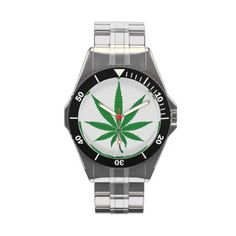 Marijuana Leaf Wristwatch - $114.00 - Marijuana Leaf Wristwatch - by RGebbiePhoto @ zazzle - Nine point Marijuana leaf. Cannabis is recognized legally in several US states, mostly for medical purposes, but some are recognizing recreational use as well. Pot smokers and medical patients will enjoy these products!