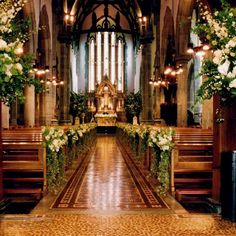 If I could create this I would be all for a church wedding.