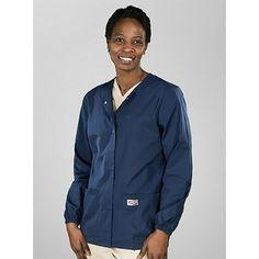 Scrub Zone® by Landau Women's Snap-Front Warm-Up Jacket