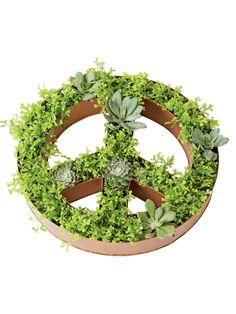 Peace Sign Dish Planter