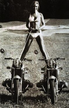 motorcycle and woman