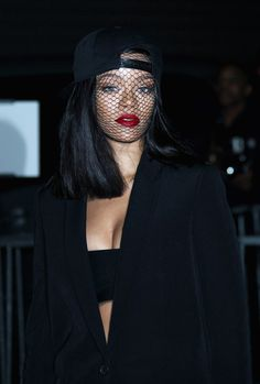 Rihanna at Givenchy Fashion Show, Paris.