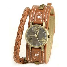 New Vintage Style Leather Strap Women's Watches, Two Colors Available