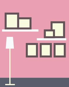 3rd - Photo Wall Display Idea