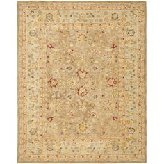 Safavieh Handmade Anatolia Tan/ Ivory Wool Rug (11' x 15') | Overstock.com