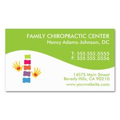 Modern Swirl Colorful Chiropractic Business Cards. I love this design! It is available for customization or ready to buy as is. All you need is to add your business info to this template then place the order. It will ship within 24 hours. Just click the image to make your own!