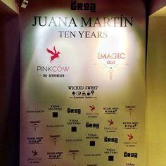 Imagic Gin en la Fiesta de cierre  de Juana Martin en la Semana De La Moda Madrid