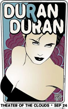 Theater of the Clouds Tour Poster, Patrick Nagel Patrick Nagel, Tour Posters, Band Posters, Duran Duran 80s, Concert Posters, Gig Poster, Nagel Art, Vintage Music Posters, Mug Rug Patterns