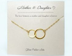 Mother Daughter Necklace Set, Mother of Bride Gift From Daughter To Mom Jewelry Infinity Necklace, Bride Gift From Mom Wedding Rose Gold Infinity Jewelry, Infinity Necklace, Star Necklace, Necklace Set, Mother Of Bride Gifts, Mother Daughter Bracelets, Or Rose, Rose Gold, Matching Necklaces
