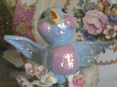 I made this little paper clay bird ( in a tea cup) awhile back but never posted any decent pics. I've made several different things since th. Paper Mache Clay, Baby Shower Themes, Shower Ideas, Clay Birds, Arts And Crafts, Paper Crafts, Paperclay, Spring Is Here, Blue Bird
