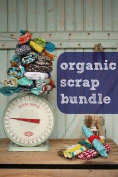 Organic Scrap Bundle 25 oz Cloud9 Tsuru by worthygoodstextile