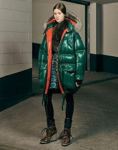 MONCLER ESCALLONIA - Long outerwear - women