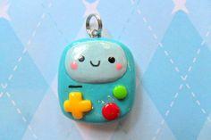 Kawaii Chibi BMO Adventure Time Charm by JollyCharms on Etsy, $5,00