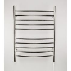 Amba Radiant Curved Hardwired 24 in. W x 32 in. H Electric Towel Warmer in Polished Stainless Steel-RWH-CP - The Home Depot Towel Warmer Rack, Electric Radiators, Bathroom Towels, Bathroom Laundry, Bathrooms, Master Bathroom, Heated Towel Rail, Bath Or Shower, Brushed Stainless Steel