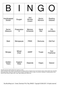 Download and Print Custom Bingo Cards (100/$14.95)